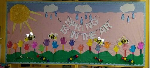Spring bulletin board,preschool