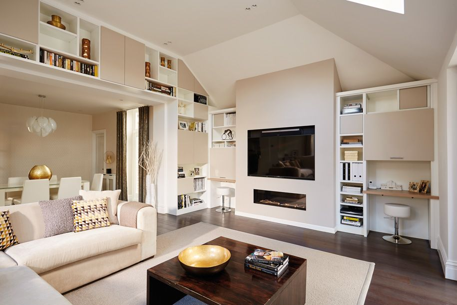 contemporary open plan lounge | imade | open plan, lounge, bespoke