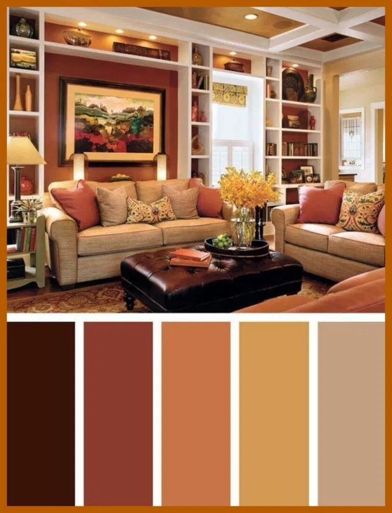63 How To Decorate Livingroom With Autumn Colors To Make Cozy