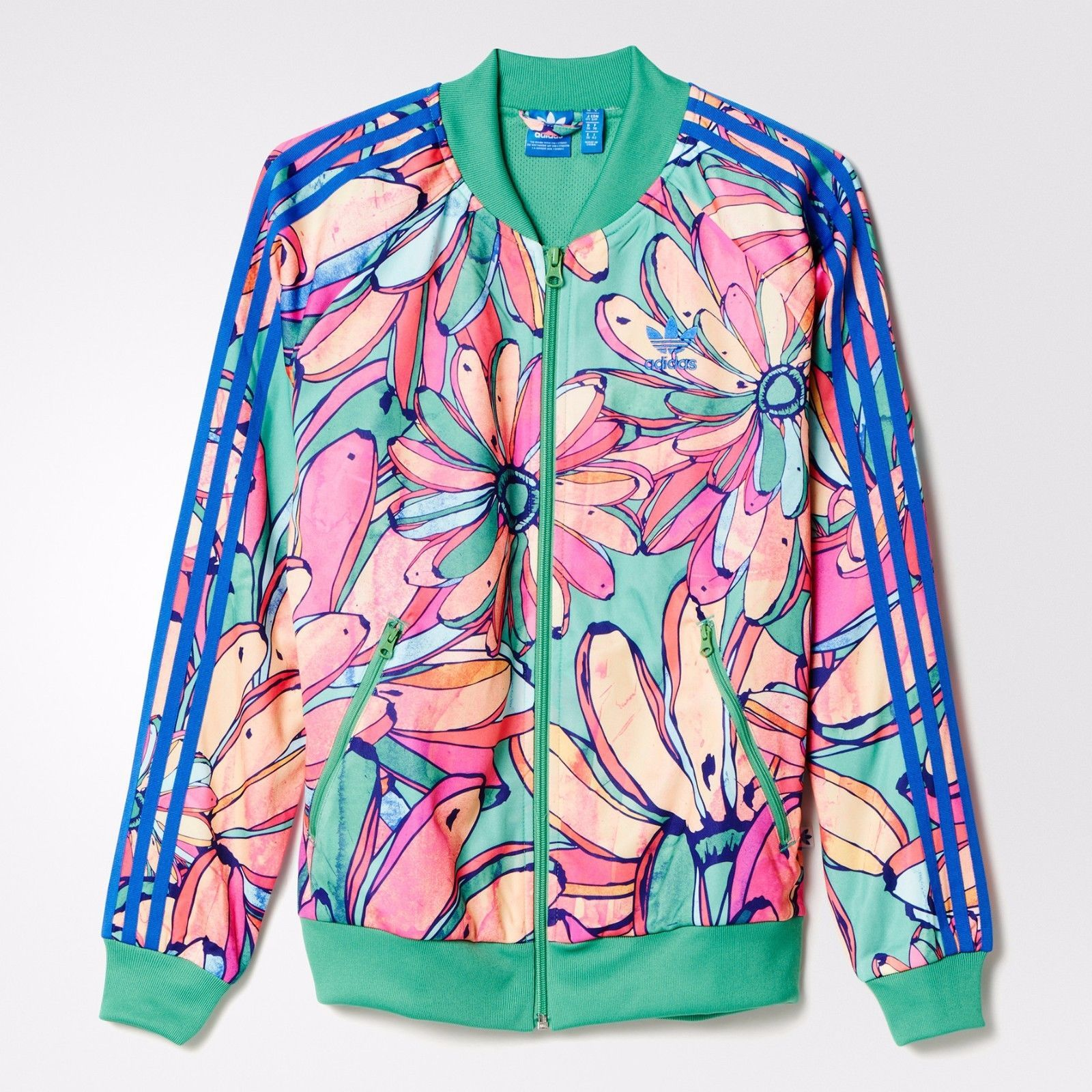 772eff57f28 Adidas Women'S Originals X Farm Bananas Supergirl Track Top Jacket Aj8122