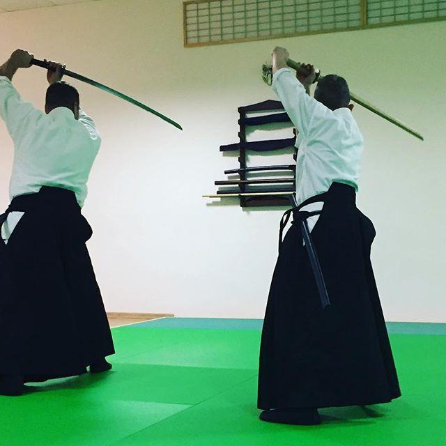 Father and son training Battojutsu // Apa és fia együtt járnak ...