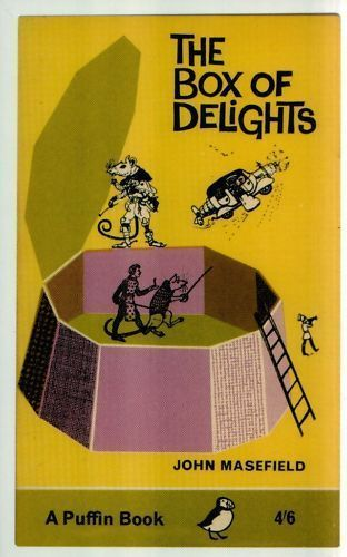 Vintage Penguin Book Cover Postcards : Postcard puffin book cover the box of delights by john