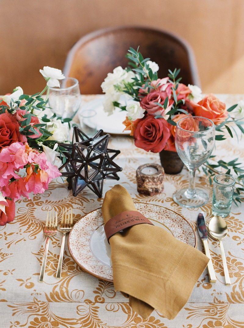 mexican wedding flowers colorful centerpieces baja weddings elena