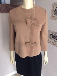 Carnaby Beige Wool Knitted Sweater Bows Jacket 12 | eBay