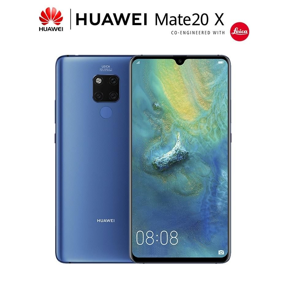 Huawei Mate 20 X Mate 20X 7.2 inch Screen Mobile Phone 5000mAh Battery NFC 40MP Leica Triple Camera Smartphone Android 9.0 #displayresolution