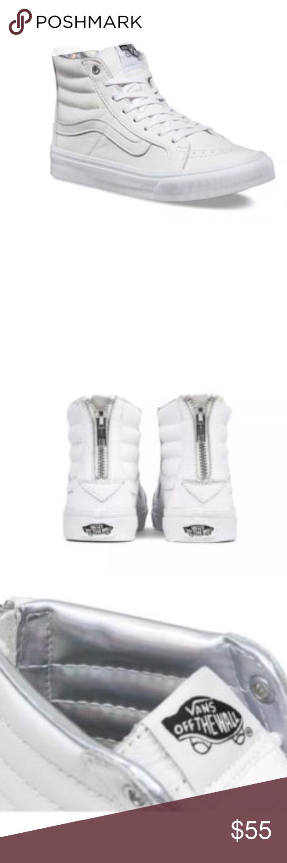 ffd8bb0c59 Vans SK8 Hi Slim Zip Hologram True White Vans SK8 Hi Slim Zip Hologram True  White True White Women Shoes Size 8.5 Brand new in box Vans Shoes Athletic  Shoes