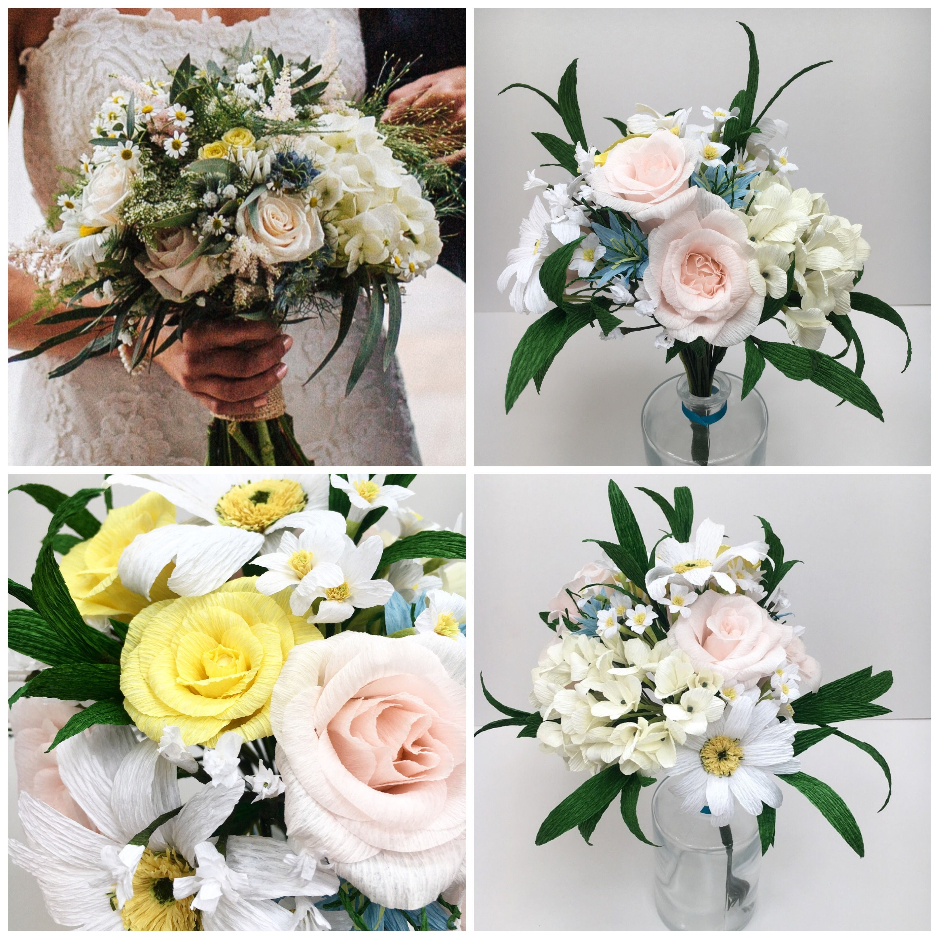 Wedding Bouquet Recreation and Lasting Paper Flowers