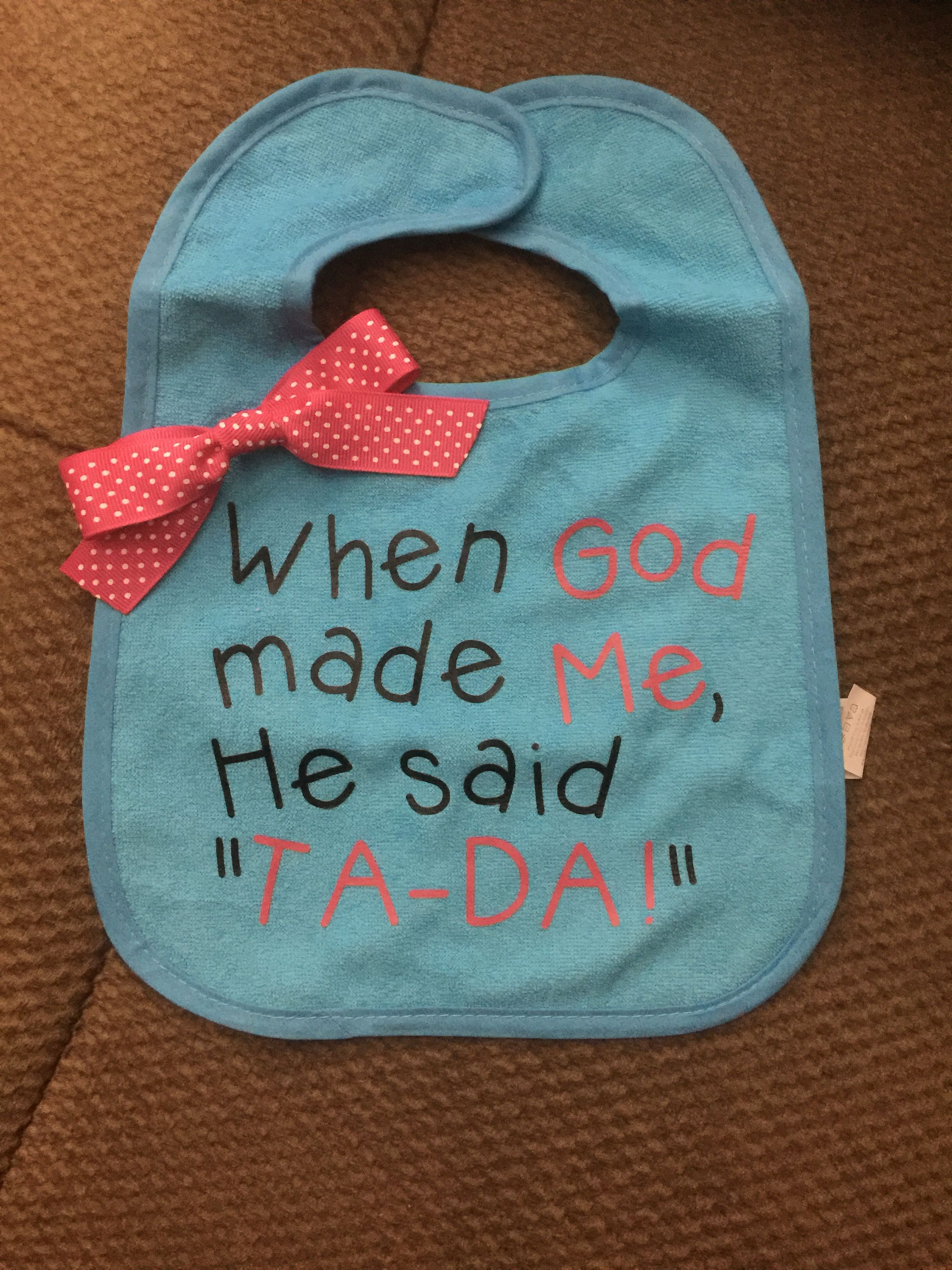 Baby Bib Made With Htv And My Silhouette Cameo Cricut
