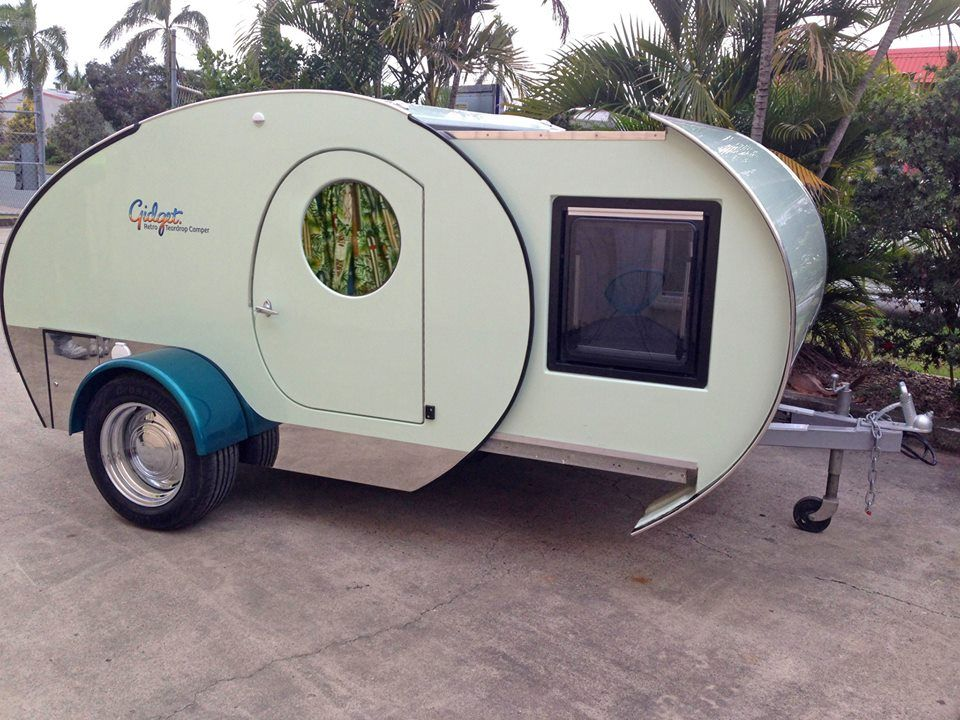 Nice Retro Campers That Are Actually New   Never Idle. Gidget Retro Teardrop ...