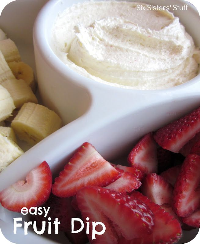 Easy and delicious fruit dip.  Only 2 ingredients!  You'll never want to eat plain fruit again!