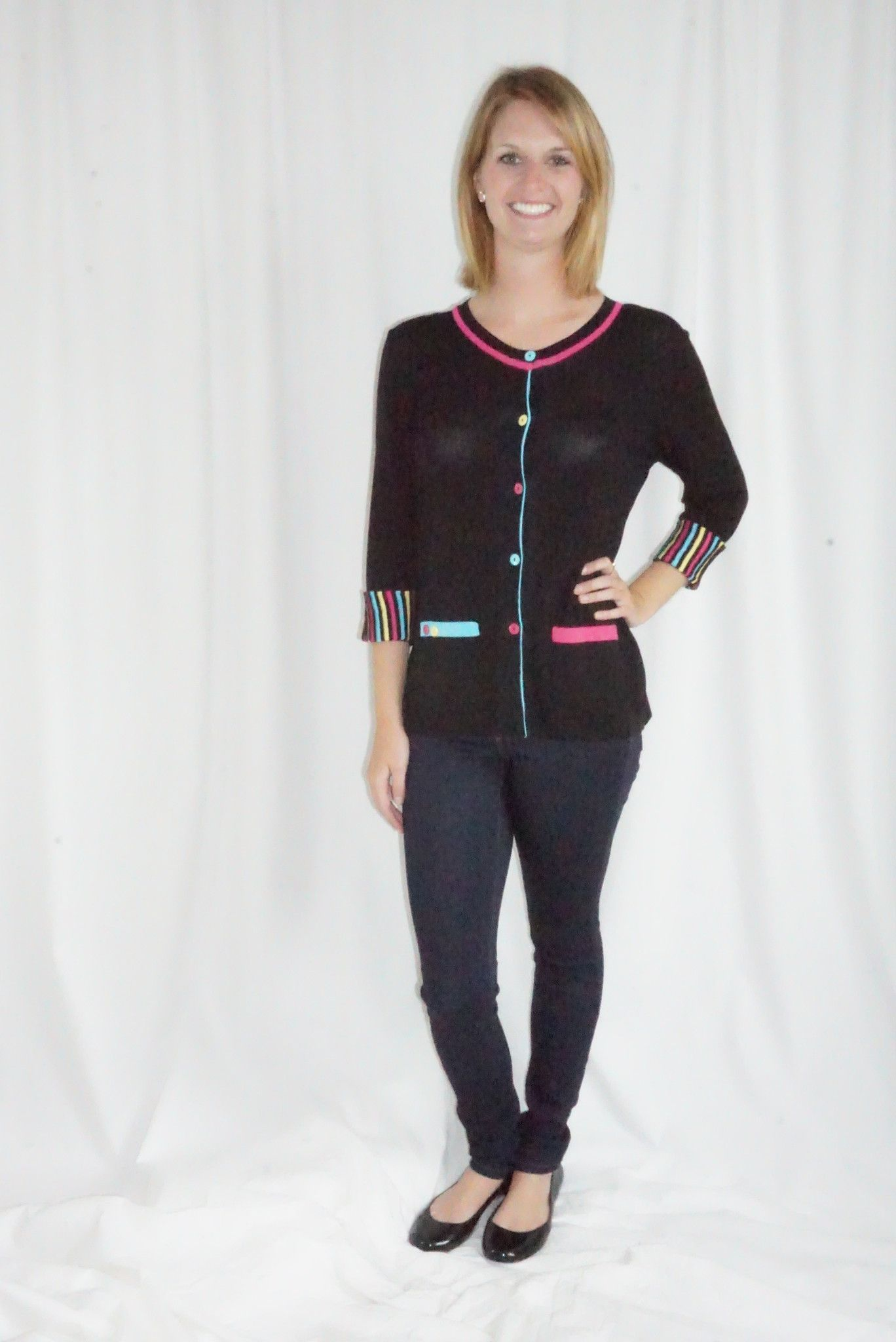 Stripped Cuff Cardigan   Products   Pinterest   Products