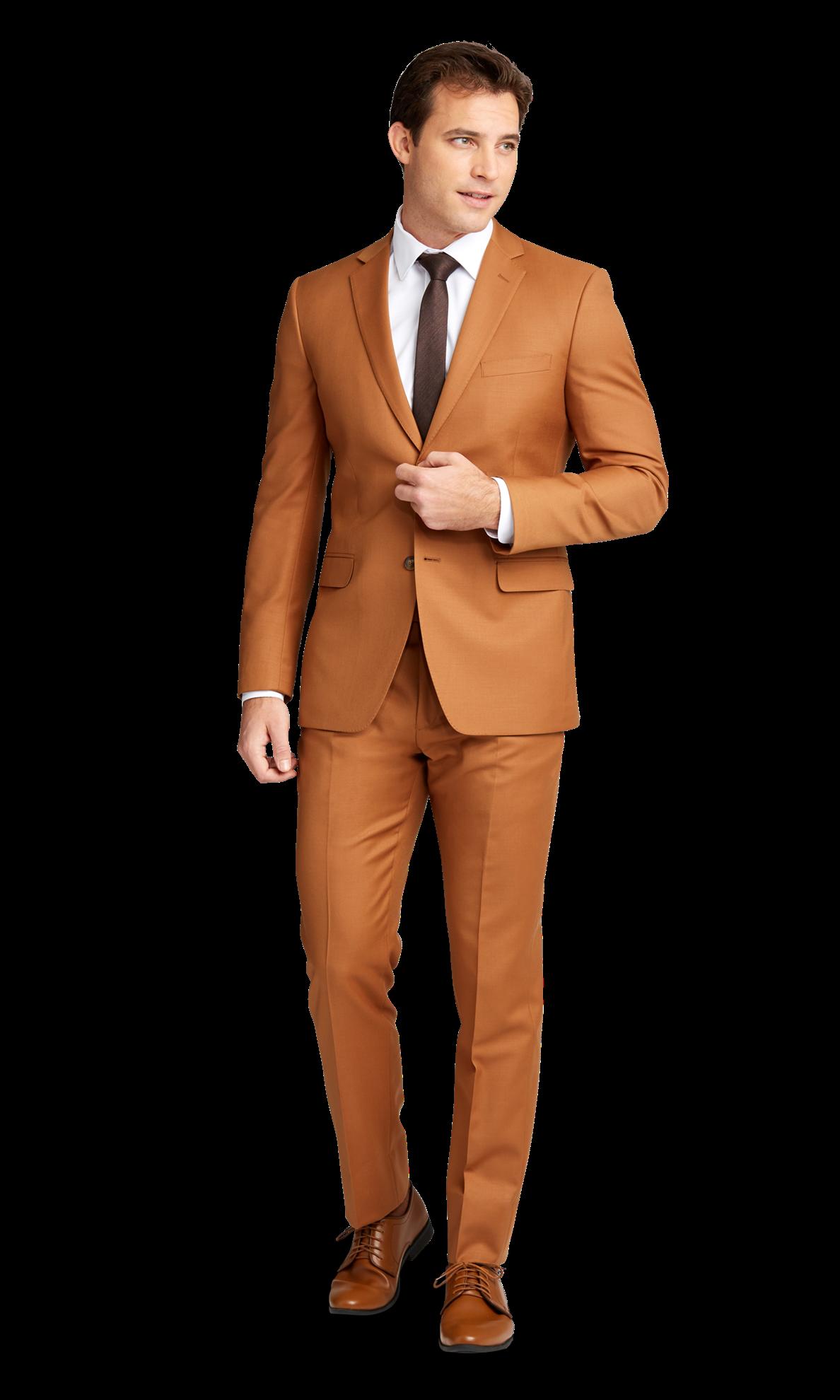 Caramel Venice Suit By Midnight Blue Orange Suit Cool Outfits For Men Suits [ 1980 x 1188 Pixel ]