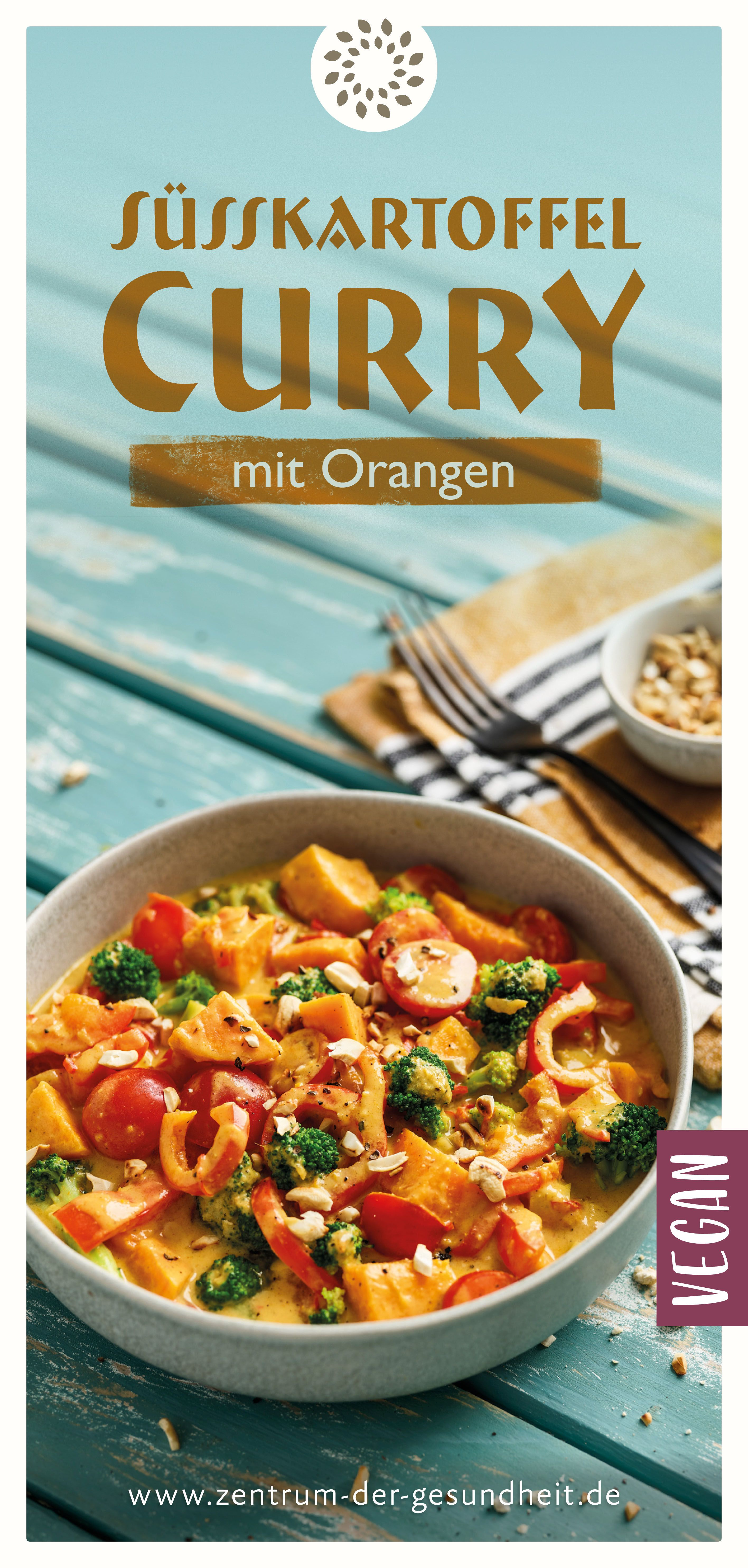 Curry mit Süsskartoffeln und Orangen