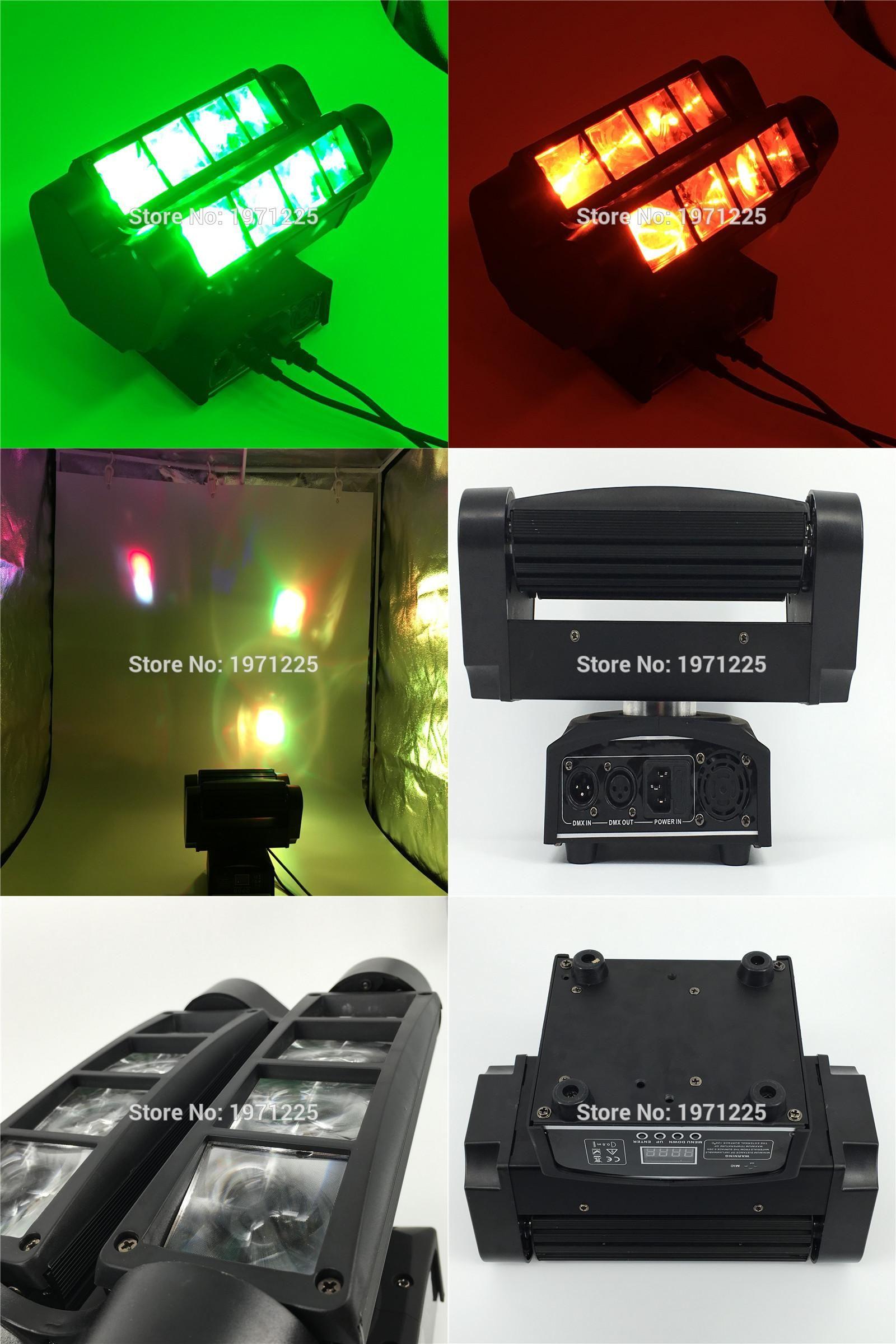 Visit To Buy 2pcs Mini Led Spider 8x10w Beam Moving Head Light Dmx Stage Christmas Light Dmx Dj Disco Stage Party Li Party Lights Dj Disco Christmas Lights