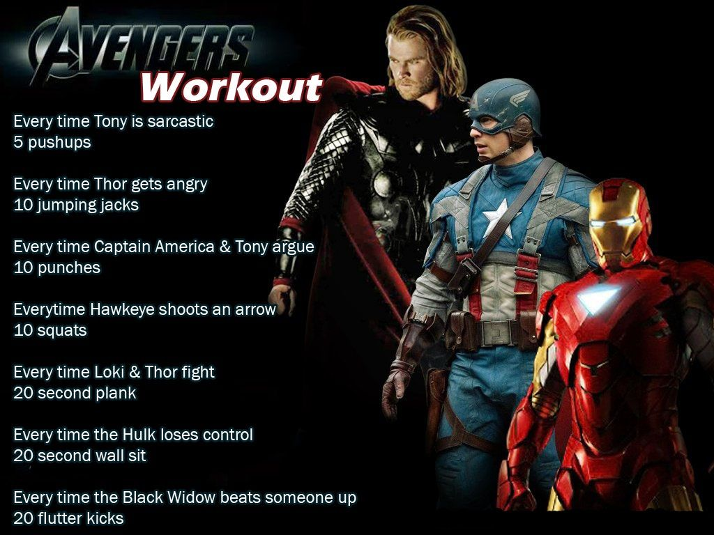 Avengers movie workout movie workouts tv show workouts