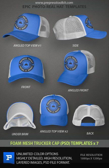 Download Trucker Hat Mockup Foam Mesh Psd Prepress Toolkit Mesh Trucker Cap Trucker Cap Photoshop