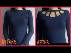 3836c6a59bd4ae DIY do it yourself cutouts shoulder sleeve to spice up an old tshirt! No  sew - YouTube