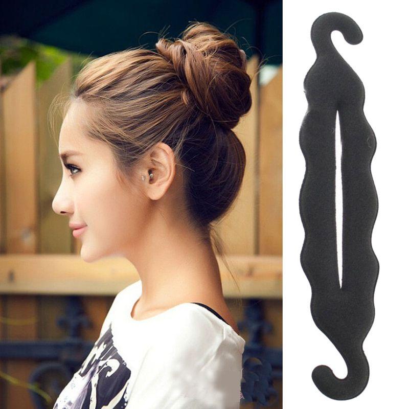 Stick Magic Shaper Donut Hair Bun Fashion Accessory Curly Swirl Hairs Roll Curl