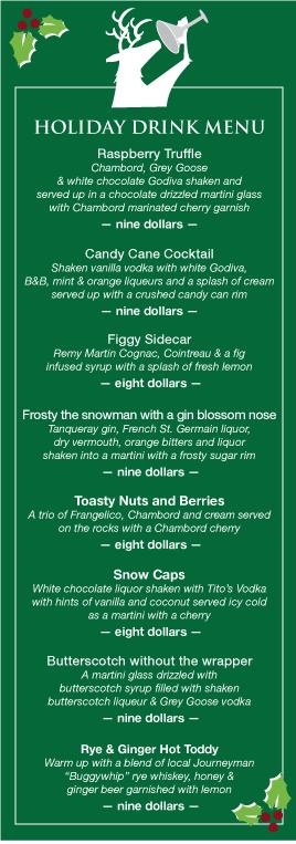 Holiday drink menu christmas pinterest xmas fall winter and winter - Christmas menu pinterest ...
