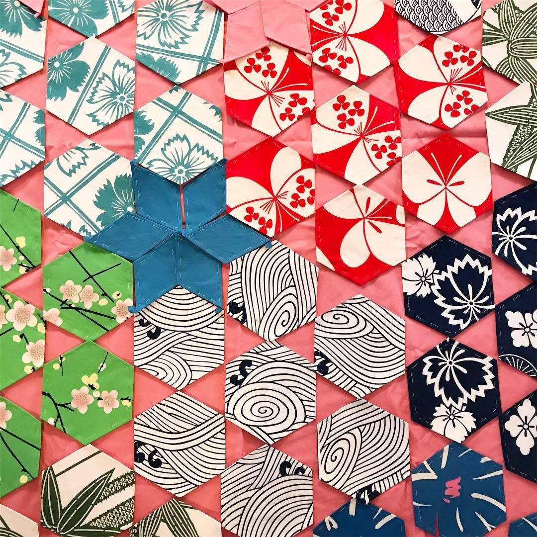 pretty english paper piecing patterns <3 (instagram handle: @okanarts #quilt #quilting #patchwork #sewing #patterns #fabric #EPP #paperpiecing
