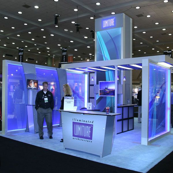 Exhibition Stand Structure : Lumiture internally lit structure is a modular system for