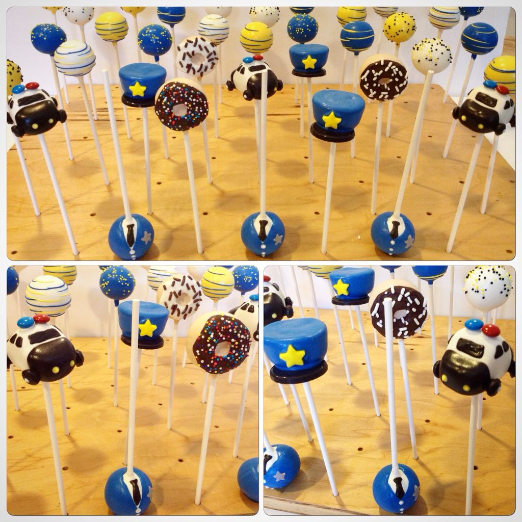Polizei Kuchen Police Themed Cake Pops Https Facebook