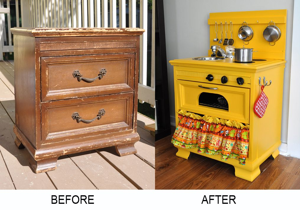 Diy Wooden Play Kitchen gender neutral diy play kitchen made from an up-cycled