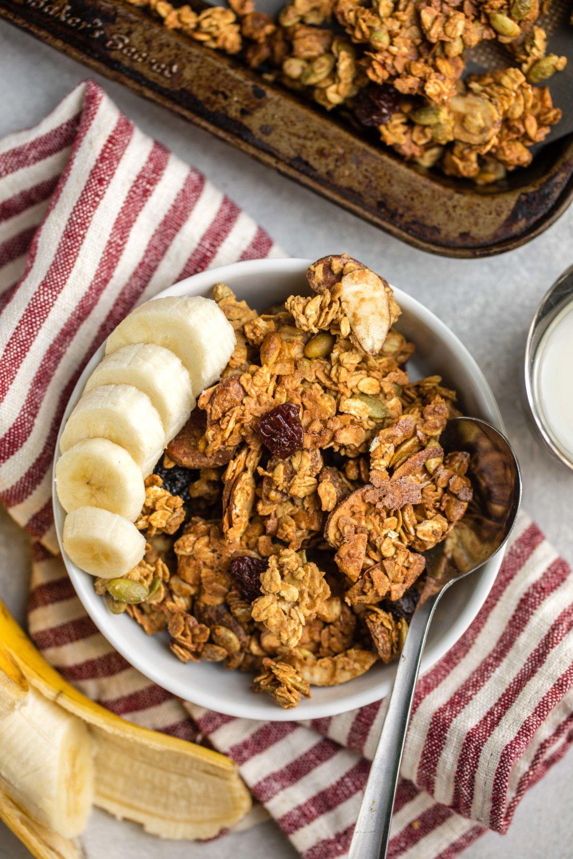 Easy Vegan Granola   Recipe   Vegan granola, Food, Food ...