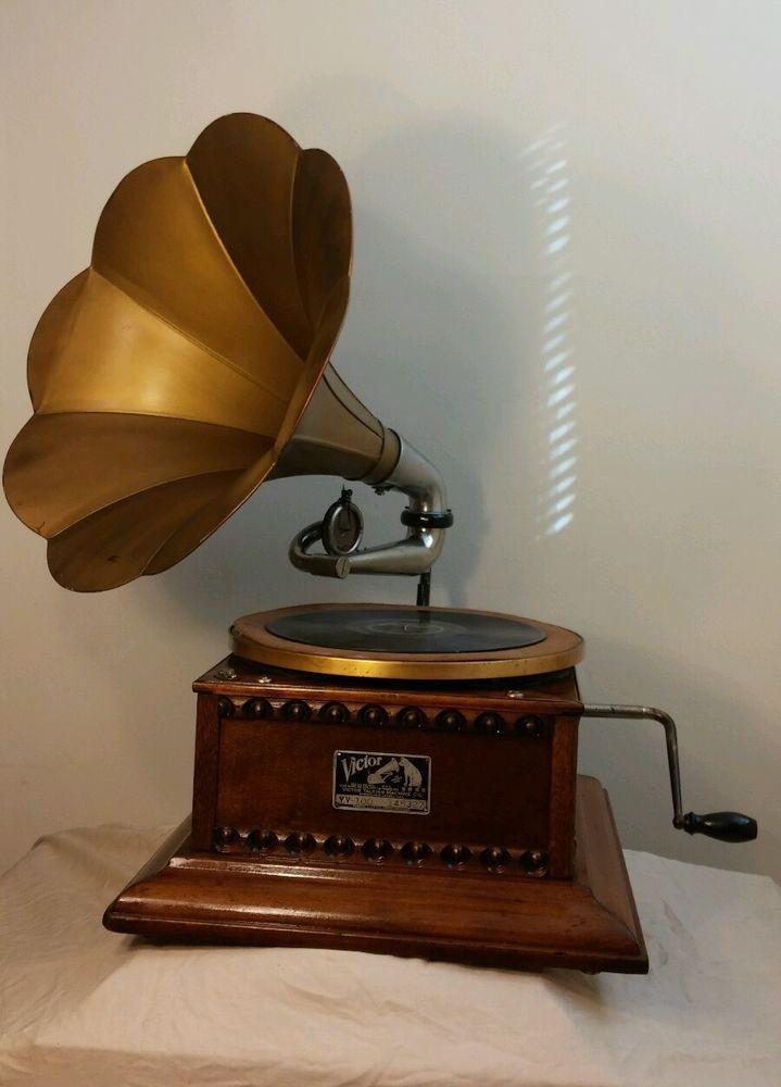 Victor Victrola Phonograph Victor Talking Machine Phonograph Talking Machines Desk Lamp