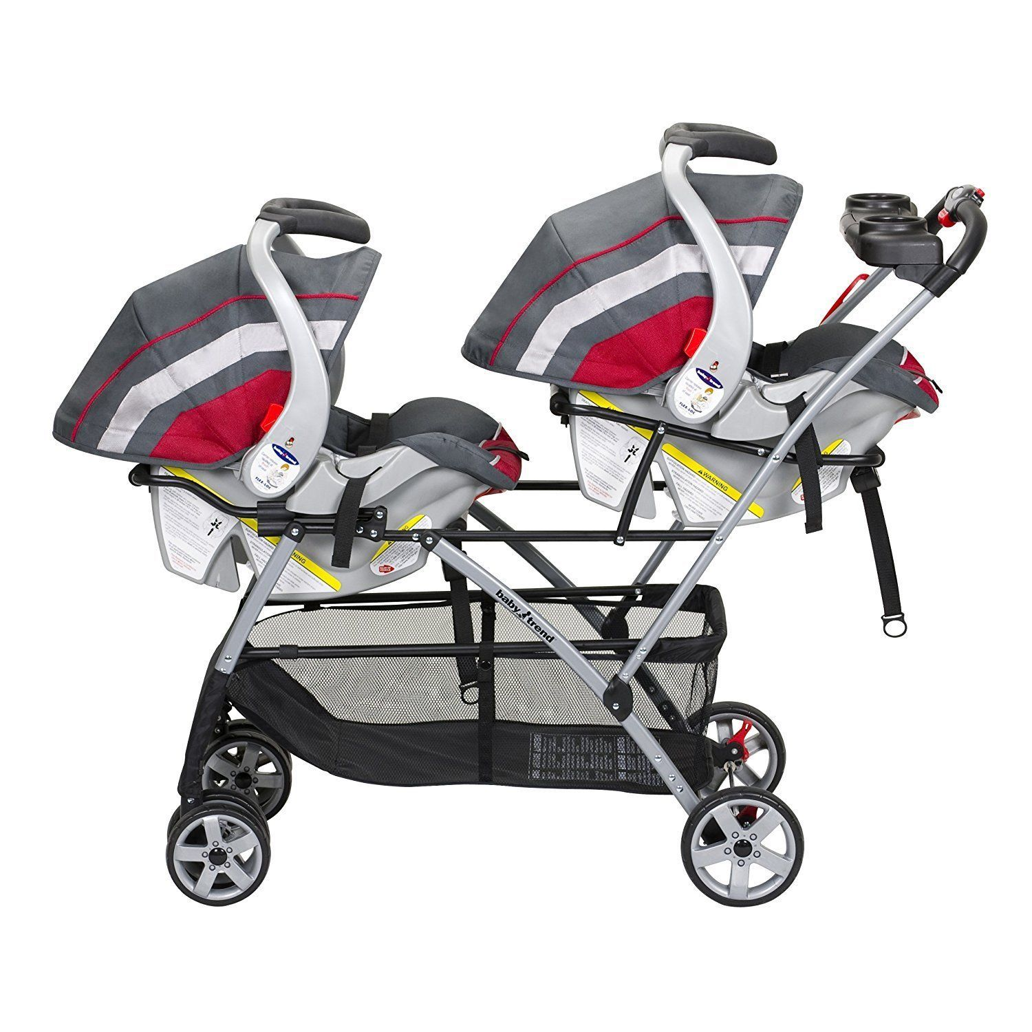 Double Baby Stroller Frame Twin Two Infant Car Seats