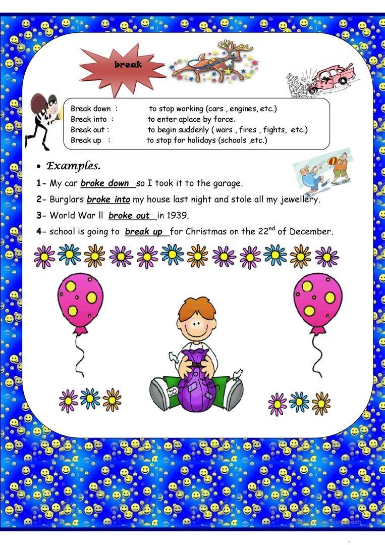 Phrasal Verbs Worksheet Free Esl Printable Worksheets Made By Teachers How To Memorize Things Verb Verb Worksheets [ 1079 x 763 Pixel ]