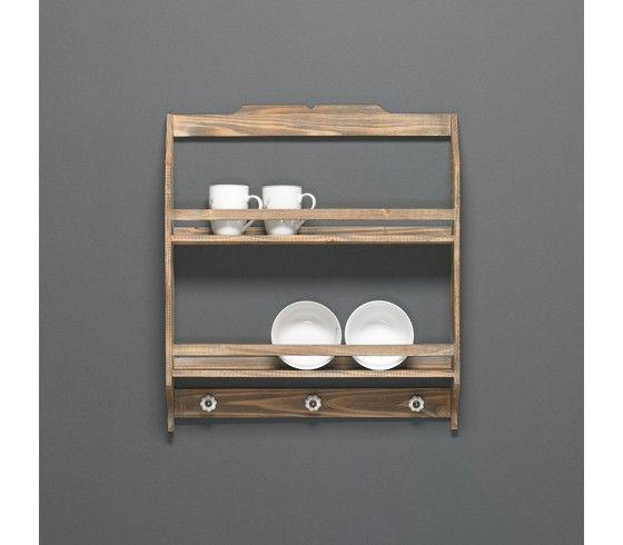 Rustikales wandregal aus tannenholz ein dekorativer - Rustikale wandregale ...