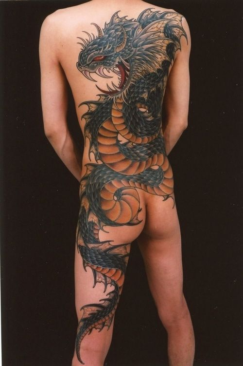 sexy dragon body art