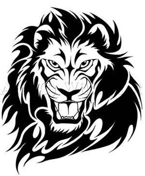 Animal Temporary Tattoos Designs On Temporary Tattoos Designs Tribal Lion Tattoo Tribal Lion Lion Tattoo