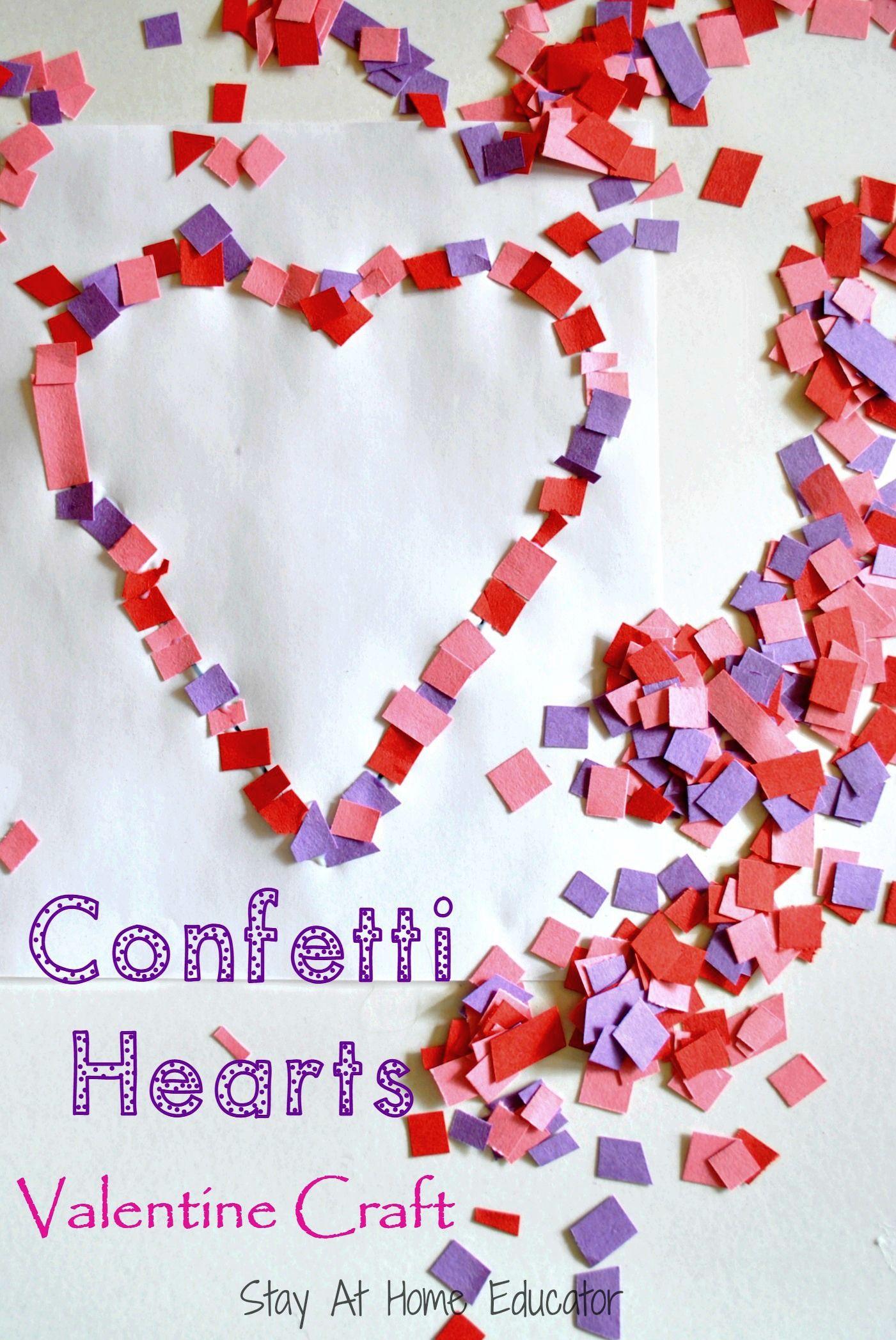 Confetti Hearts Valentine Craft
