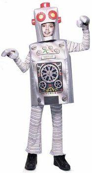 Amazon.com: Child's Robot Halloween Costume (Size: Small 4-6): Clothing