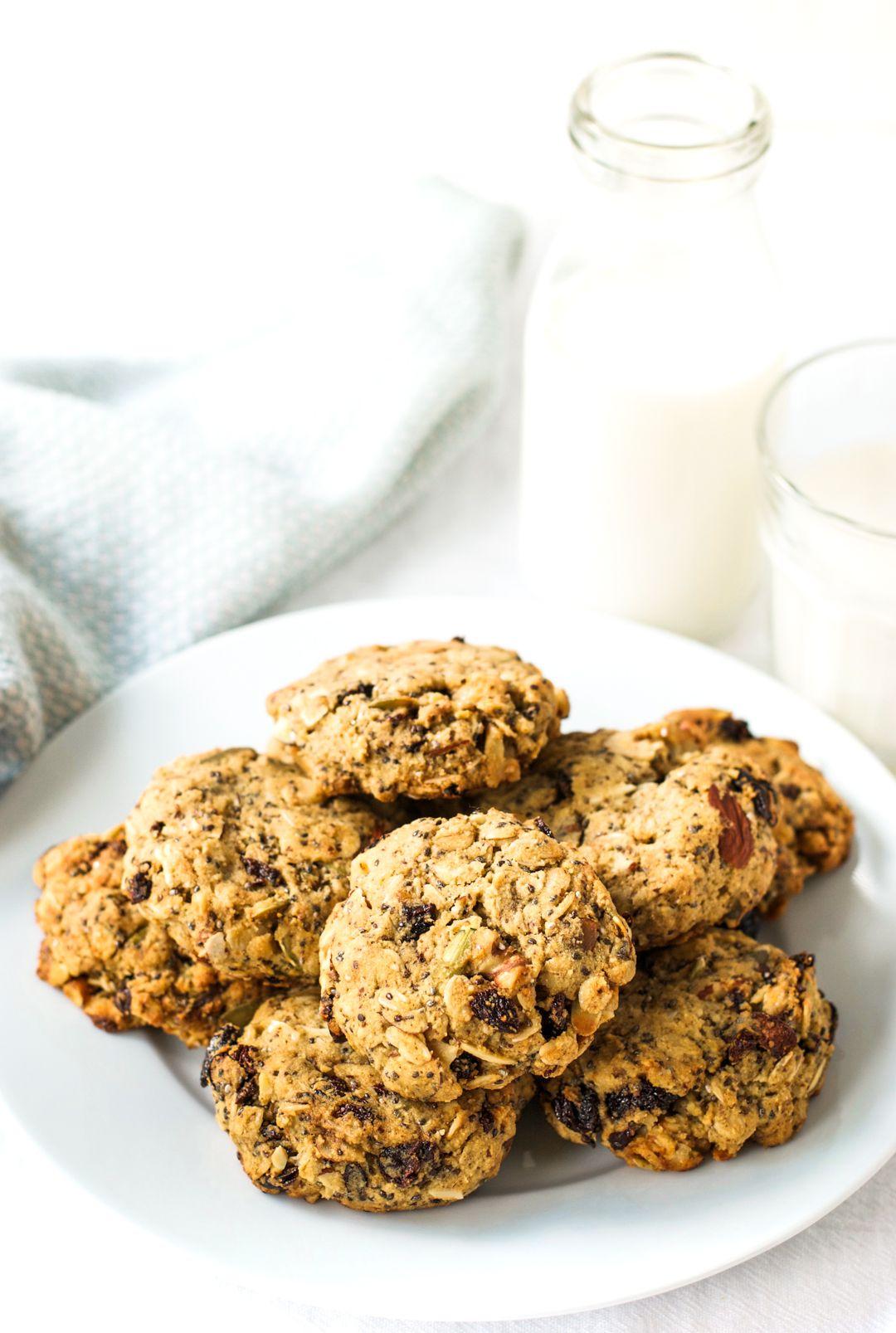 Cherry Almond Breakfast Cookies Vegan Gluten Free Recipe Almonds Breakfast Breakfast Cookies Vegan Cookies