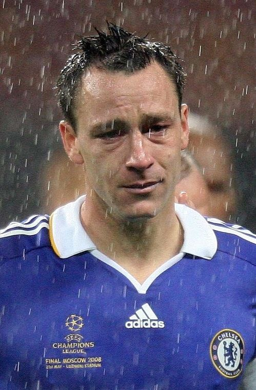 John Terry After The Manchester United Vs Chelsea Champions League Final 2008