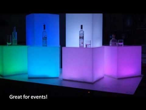 Led Color Changing Acrylic Cubes Lighted Tables In 2019