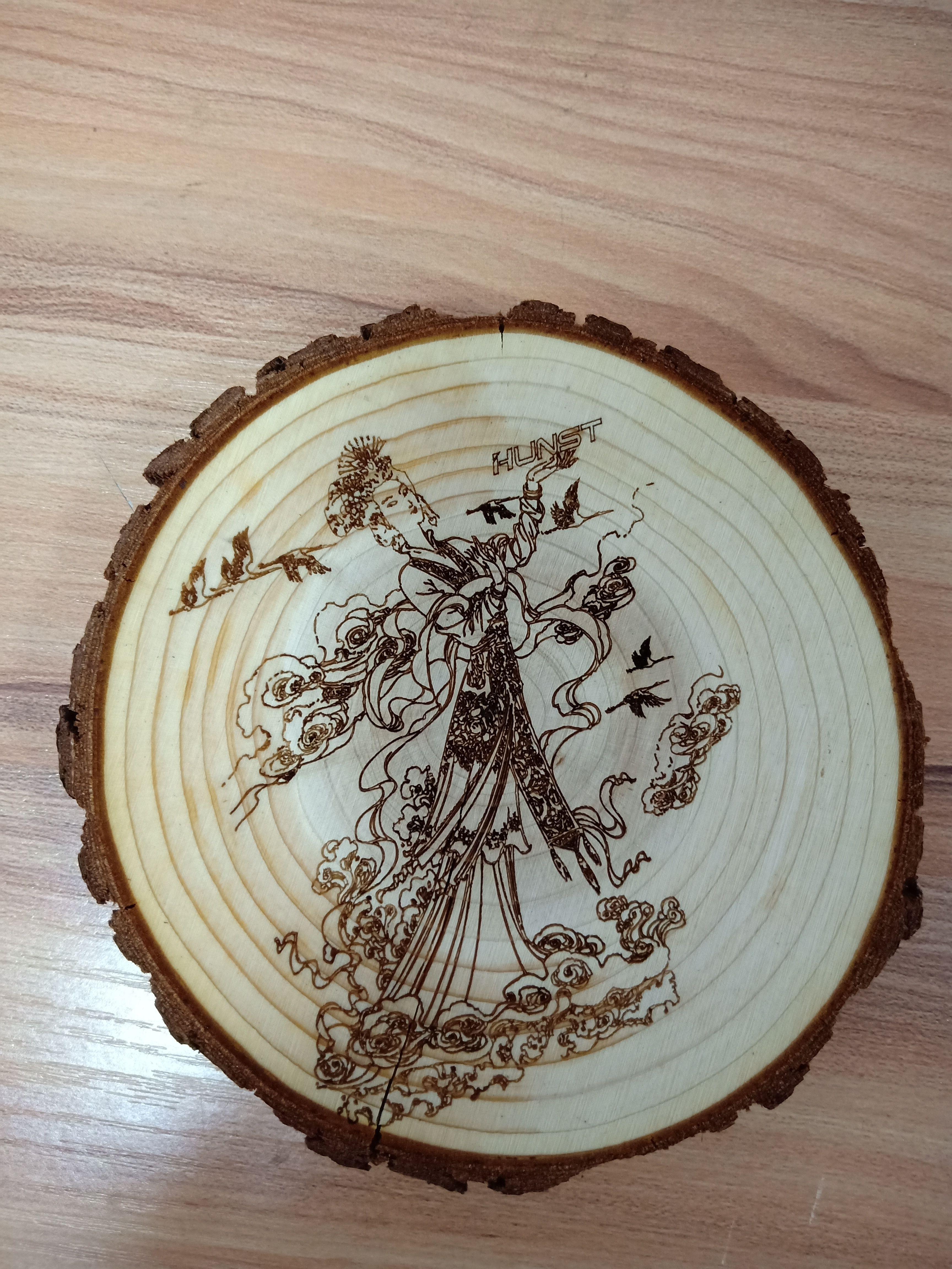 Wood laser engraving machine can make craft #wood #craft