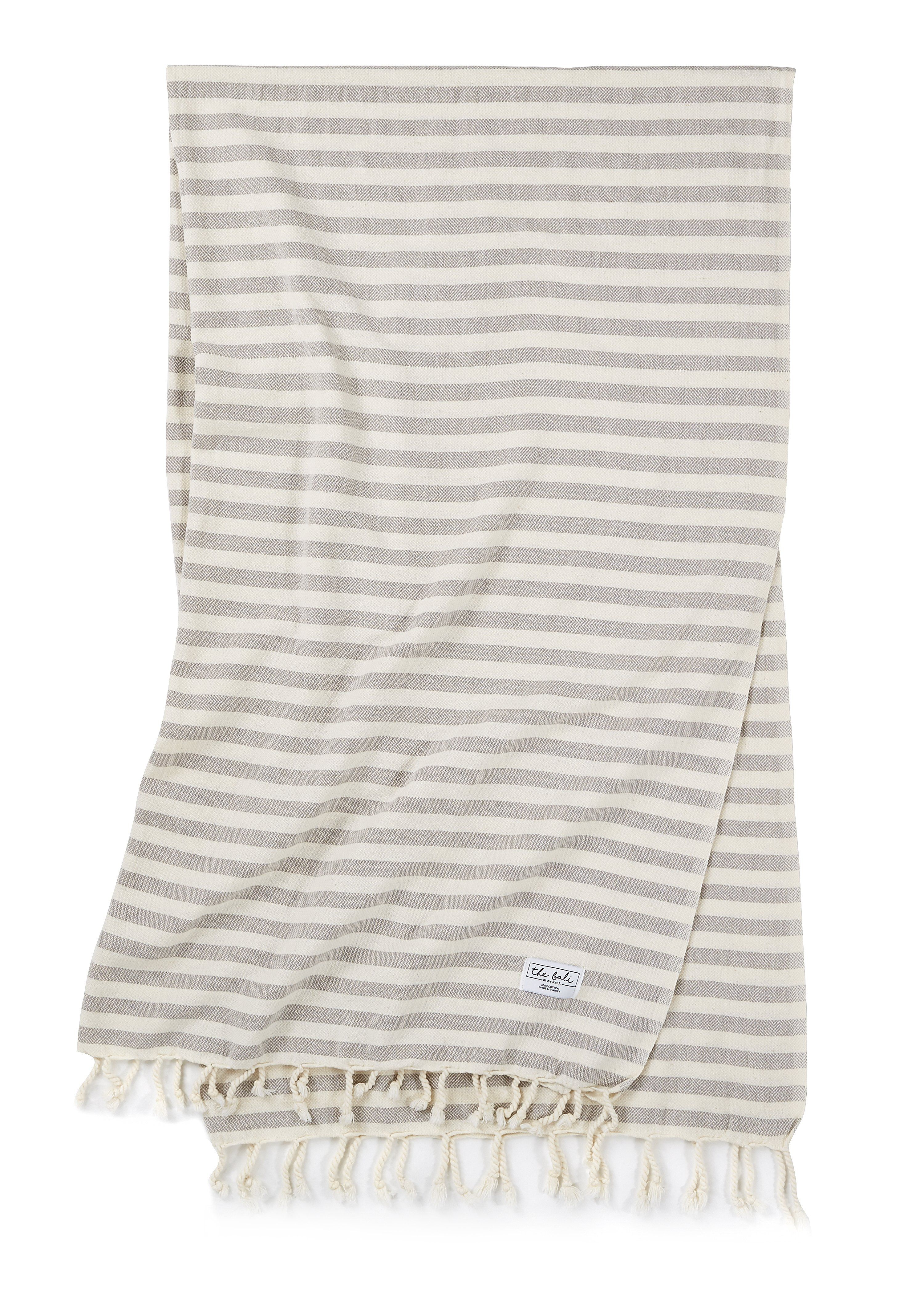 The Bath Towel With Beach Style The Saltwater Stripe Is A Fun