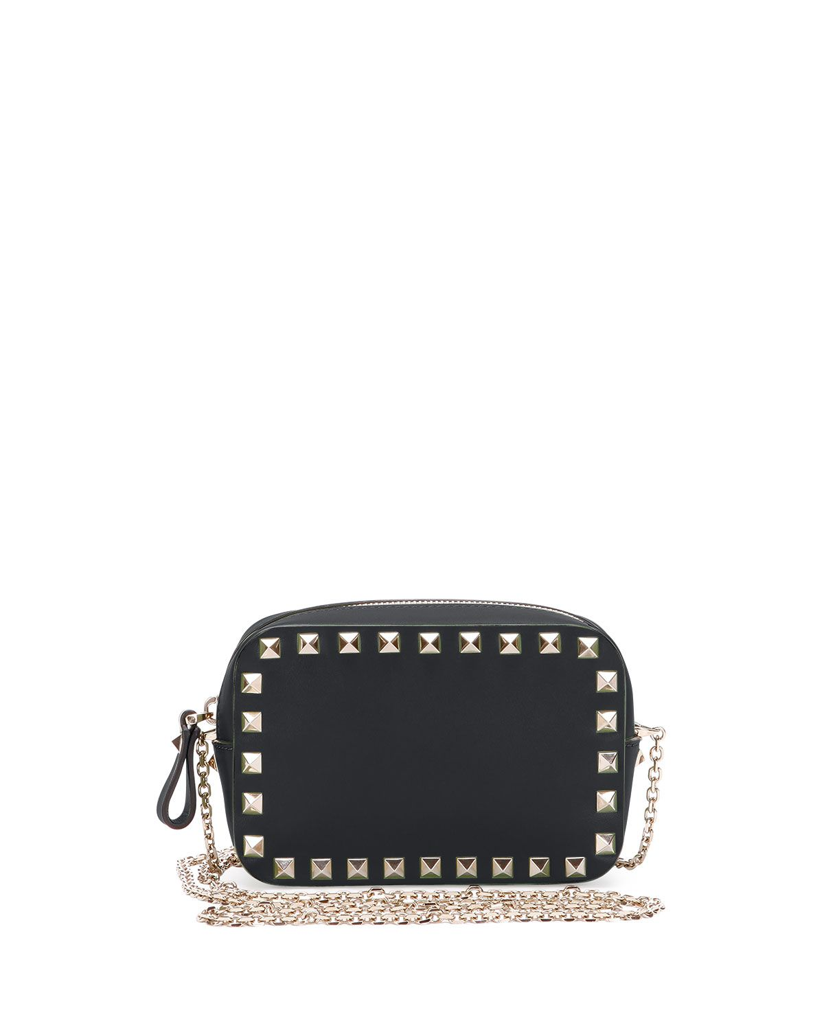 5adb641745a Red Valentino Small Rockstud Chain Camera Crossbody Bag, Black, Size ...