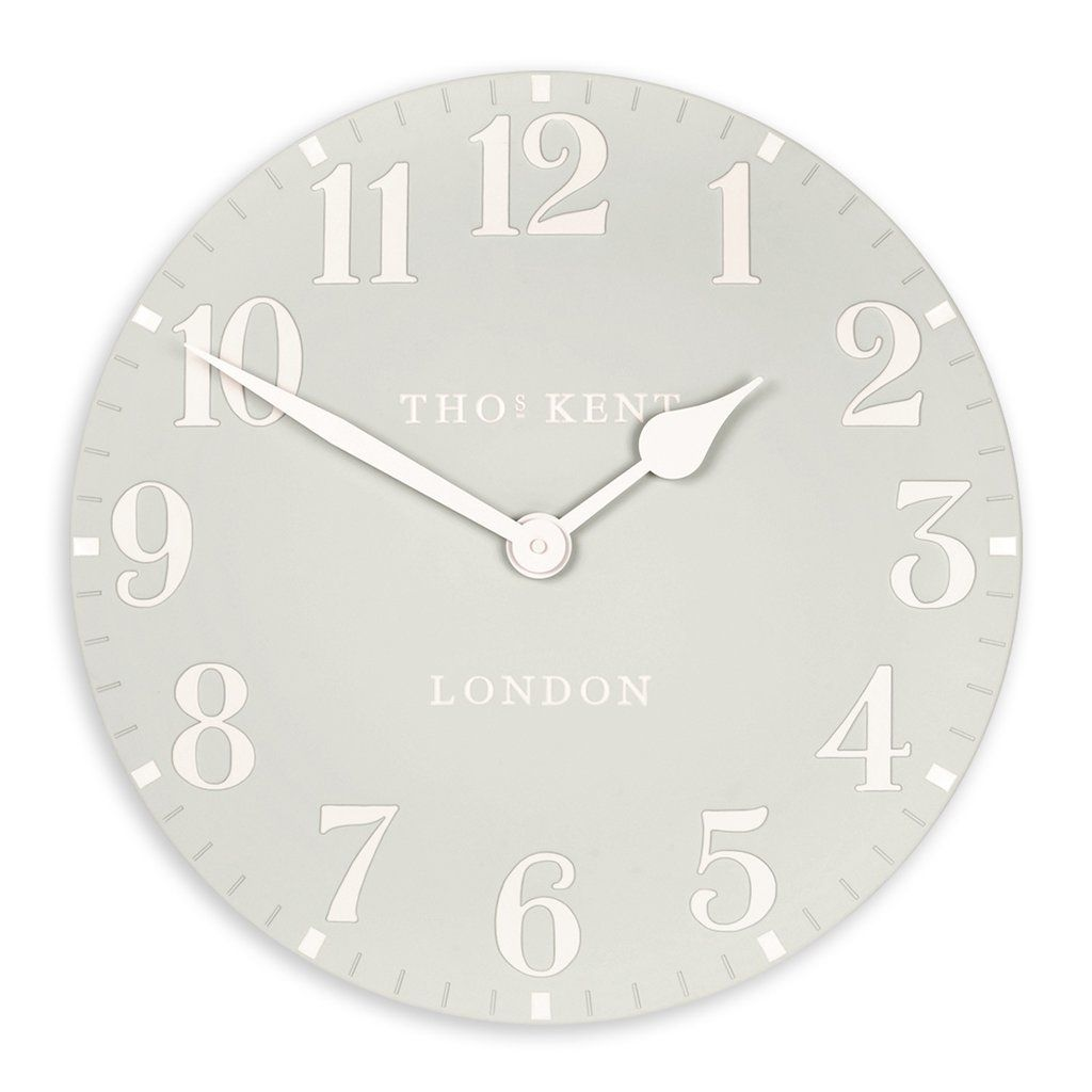 Dove Grey Arabic Wall Clock 20inch Thomas Kent Kitchen