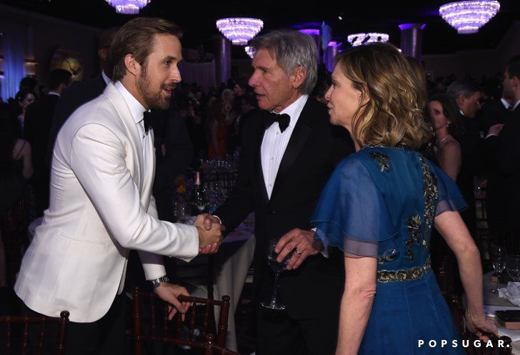 Ryan Gosling Shook Hands With Harrison Ford As His Wife Calista