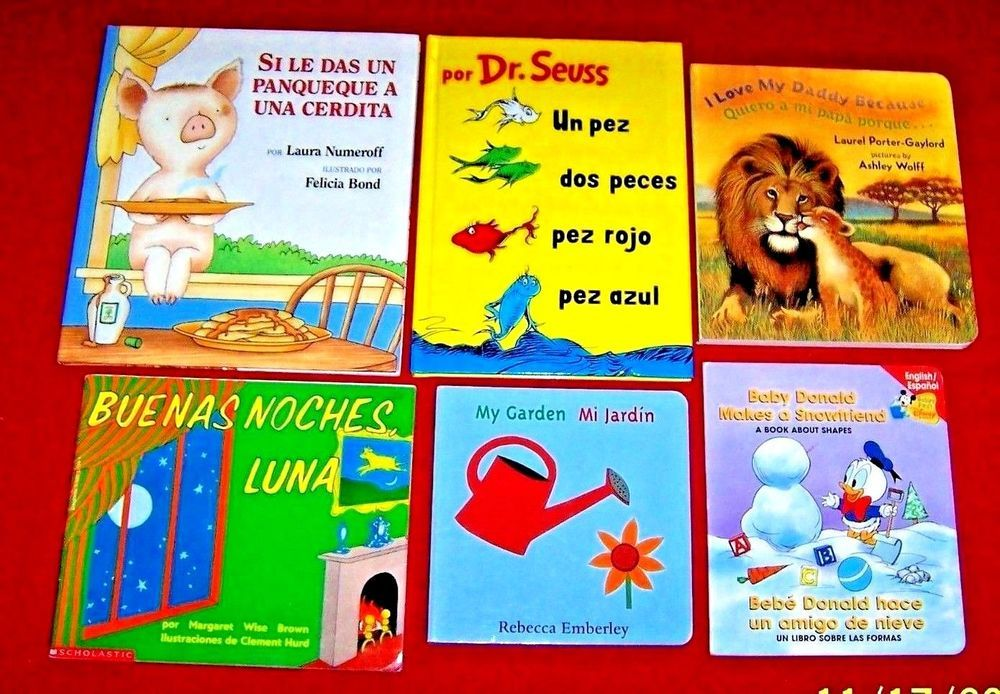 Bilingual spanish 6 childrens books preschool dr seuss