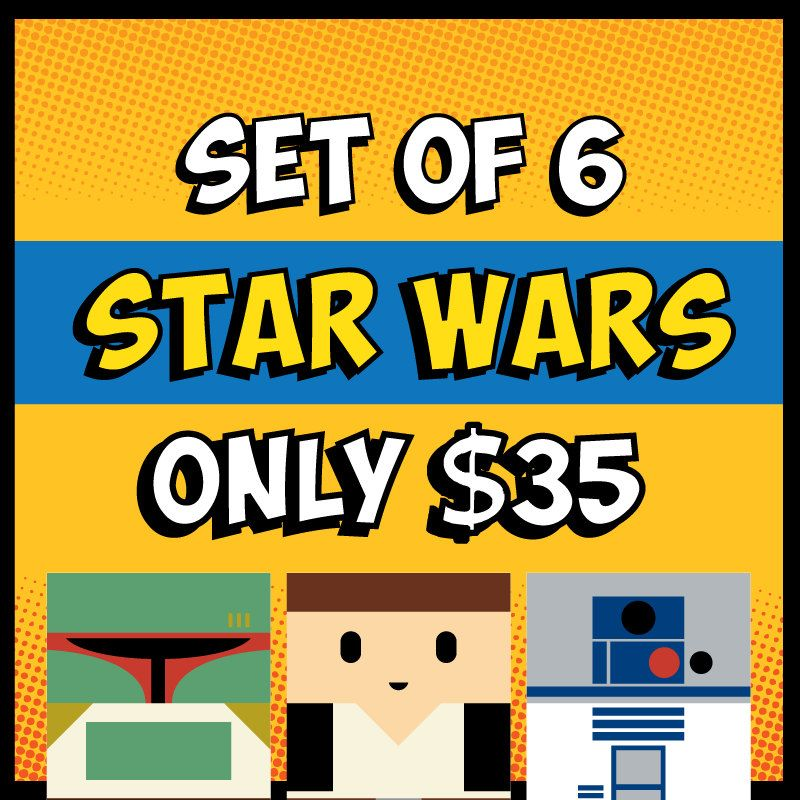 Buy Any 6 Star Wars Poster Set for Kids Room Baby Nursery Man Cave ...