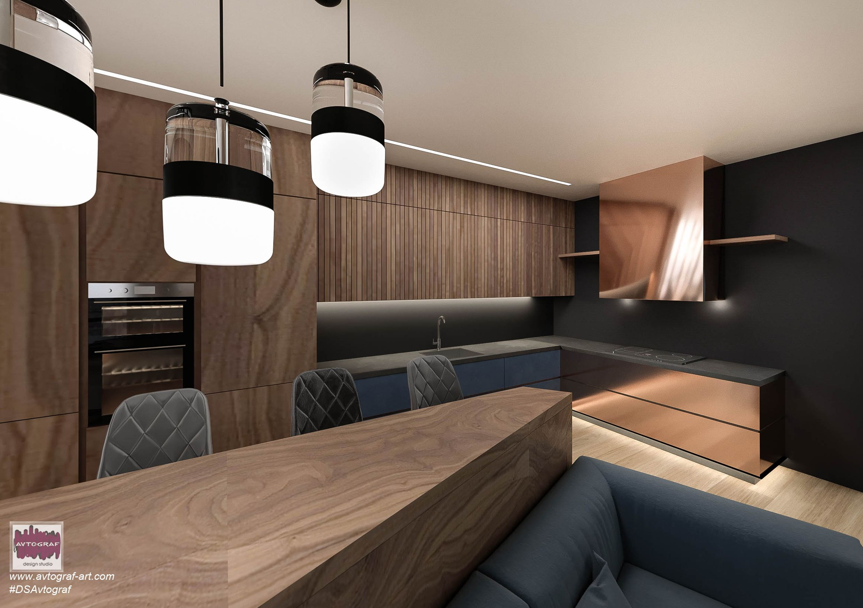 "Photo of Modern Tiny Living apartment ""Sapphire mood"""