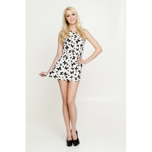 Stella Butterfly Print Dress