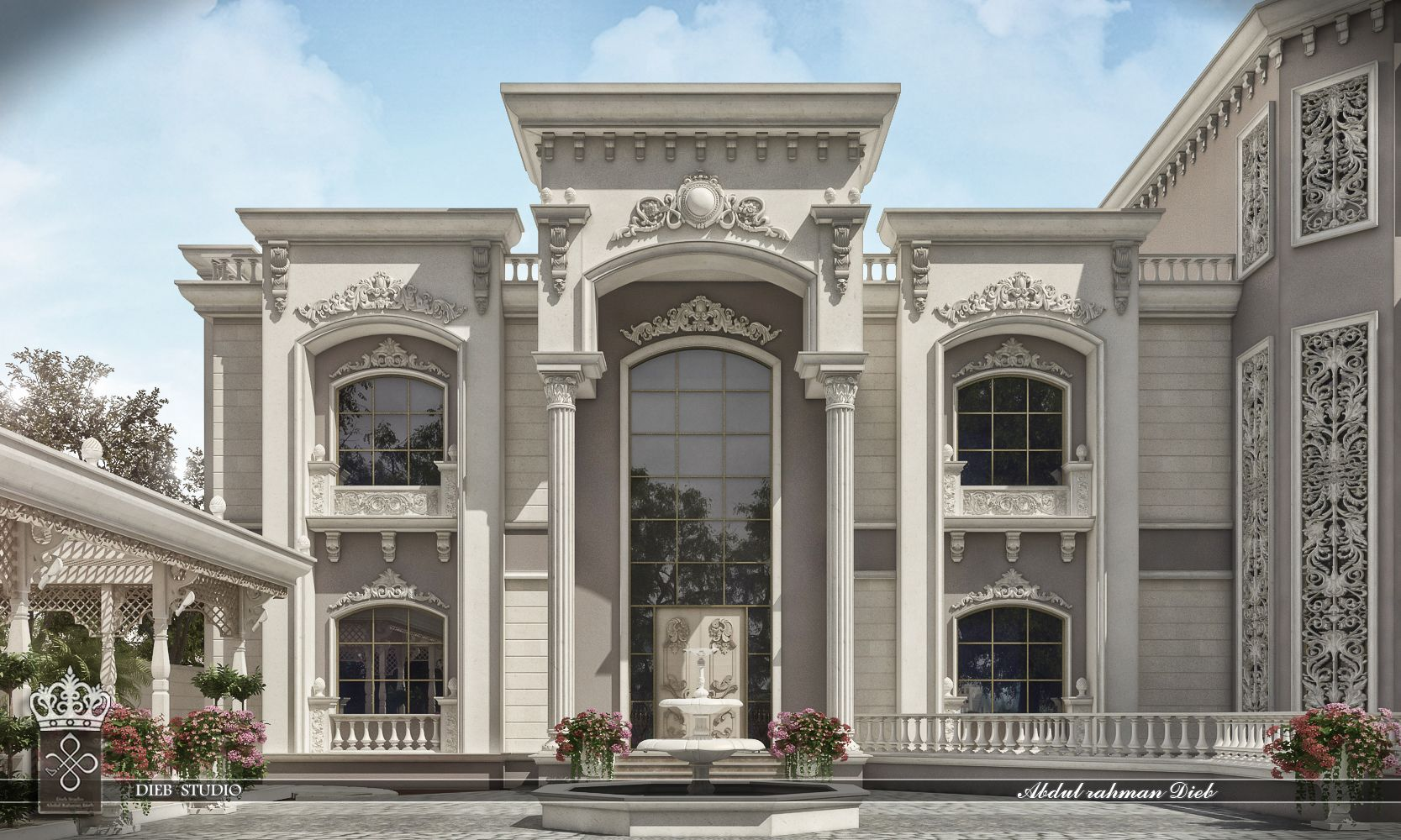 White Dove Palace Mohammed Al Abdulsalam House Design