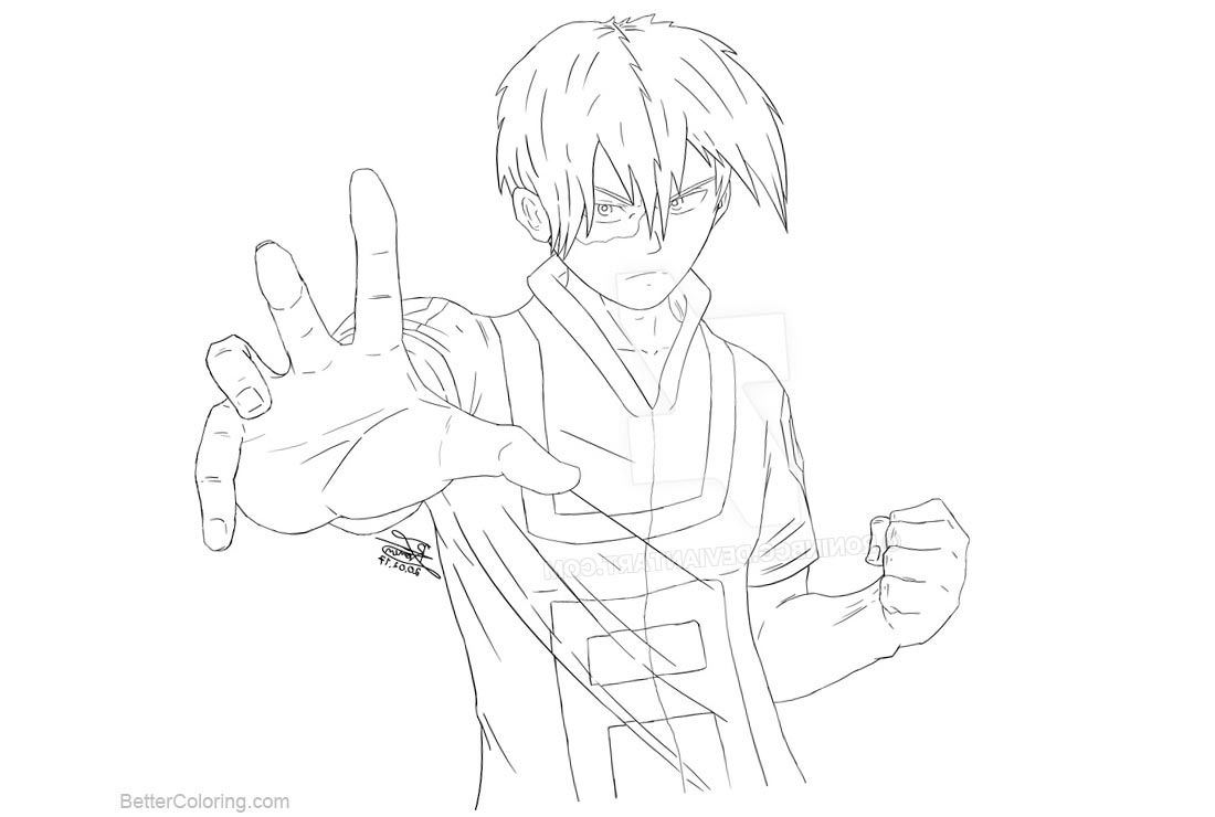 Free Boku No Hero Academia Coloring Pages Todoroki Lineart By Roninbcg Printable For Kids A Chibi Coloring Pages Avengers Coloring Pages Cartoon Coloring Pages
